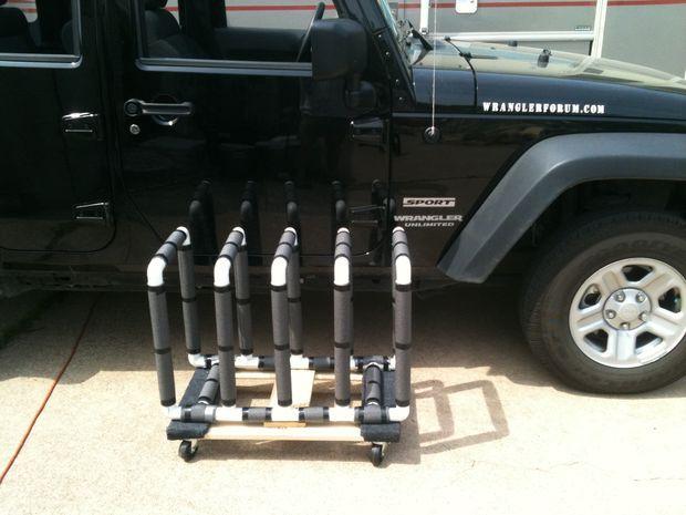Jeep JK PVC door storage.
