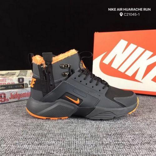 fea17df4f32f 2018 Mens Womens sneakers Nike Air Huacache Mid Deep Grey Orange ...