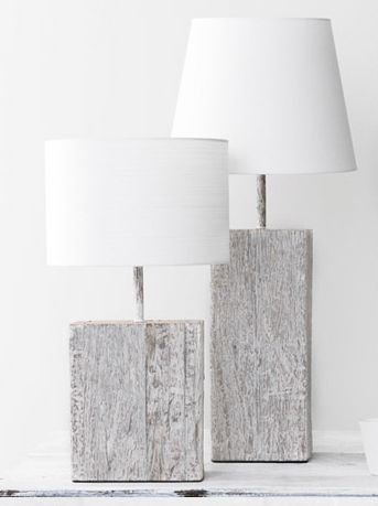 White Washed Lamps - Does anyone have a DIY for a look a like? Please post it in the comments!