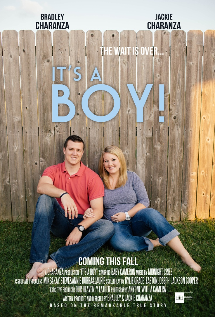 """It's a BOY!"" Gender Reveal Movie Poster 