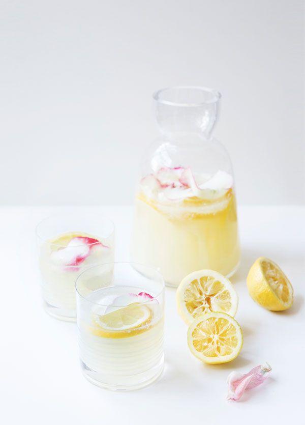 Rose-infused lemonade