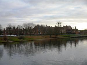 Thames Path west London: Hampton Court from the river