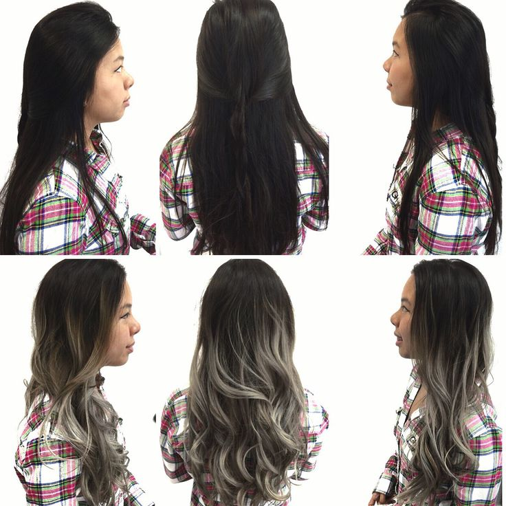 TRANSFORMATION: Stand Out Gray Ombre