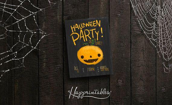 Halloween PRINTABLE Invitation by Happrintables on Etsy