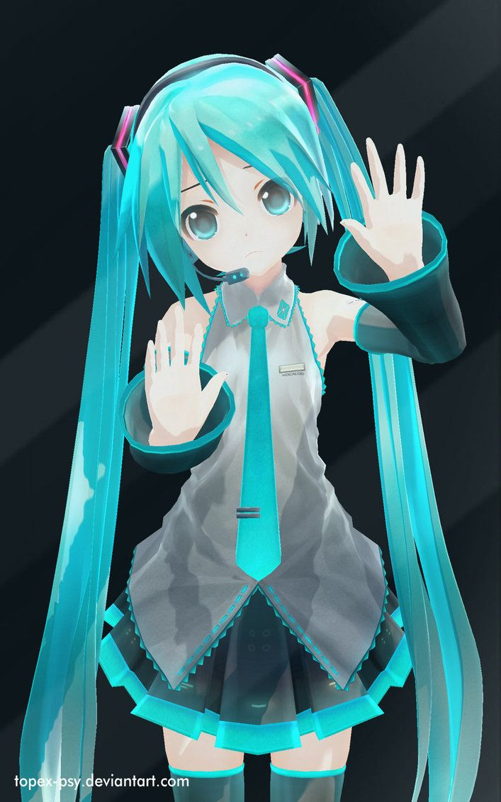 MMD Hatsune Miku Let Me Out Android Wallpaper by topexpsy