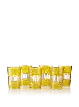 65% OFF Found Objects Set of 6 Lalla Moroccan Glasses (Yellow)