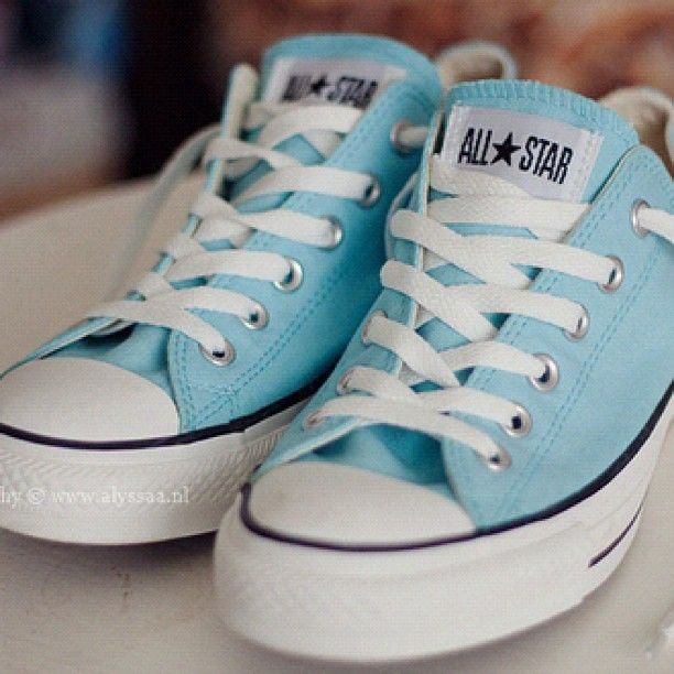 #weheartit #iwant #want #blue #lightblue #pastel #converse #allstar…