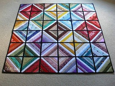 Loving this scrappy quilt-as-you-go string quilt, made by Val Spiers {inspiration, not tutorial}