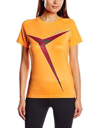 €7.81 in Gr. 36 * erima Damen T-shirt Green Concept, Orange Pop/Magma * Sportbekleidung günstig