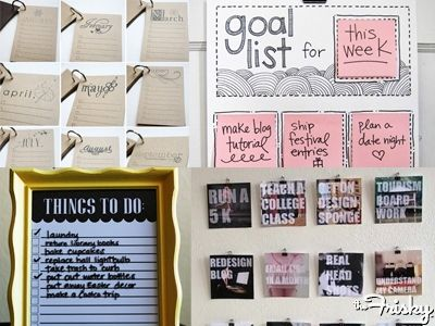 Super Cute To Do Lists, Goal Lists, and Vision Boards