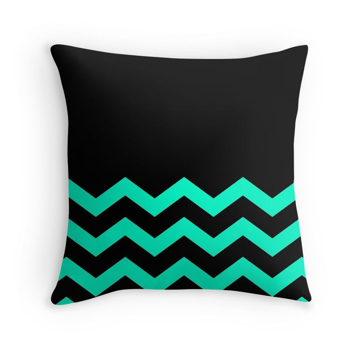 Beautiful Cushions/Chevron/ Black Aqua