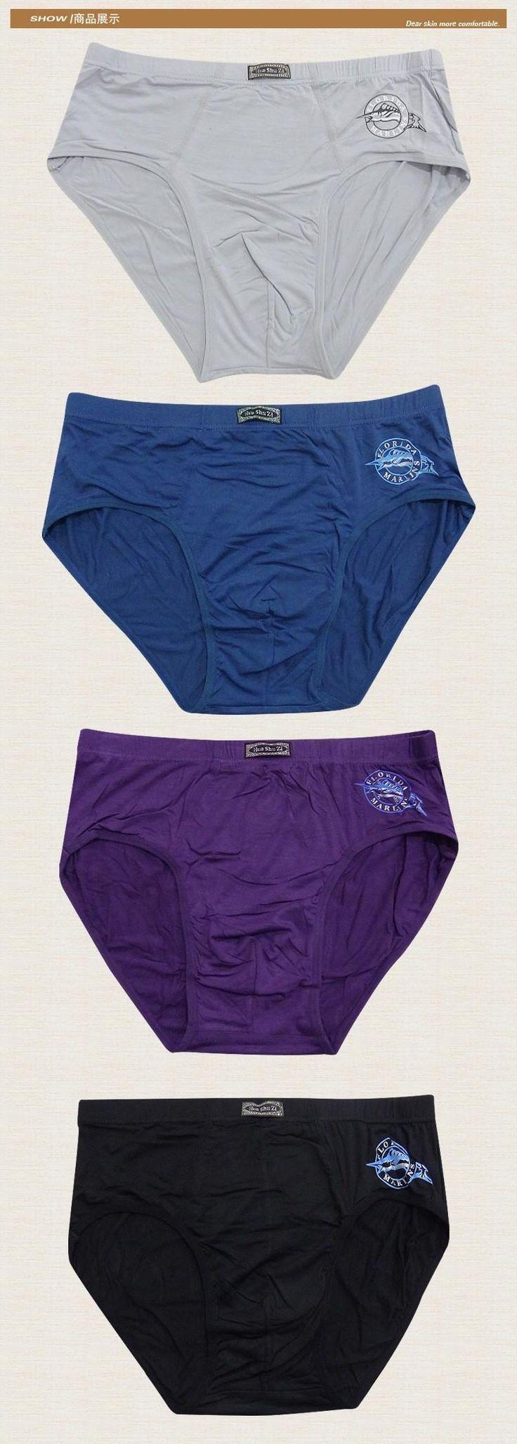 4pcs/lot  Supper Big Men Briefs Soft Bamboo Fiber Underwear Brief Cuecas calzoncillos hombre slips Plus Size 4XL 5XL