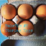 Storing Eggs Always store your eggs in the fridge in an egg carton with the rounded end down. This will not only help them from loosing moisture and becoming stale quickly but it will also stop the eggs from absorbing other flavours from the fridge through their porous shells.  www.bakeclub.com.au http://www.bakeclub.com.au/recipes-baking-resources/baketips.aspx