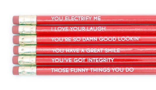 Reasons I Love You Red Pencil Set (http://www.wordon.com.au/products/reasons-i-love-you-pencil-set.html)