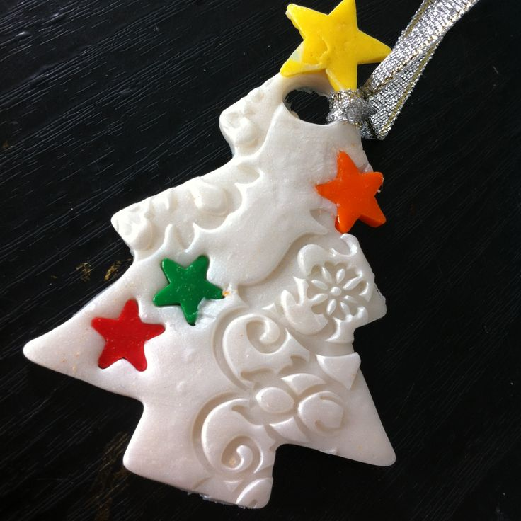 Christmas tree ornament I made as a present using polymer clay