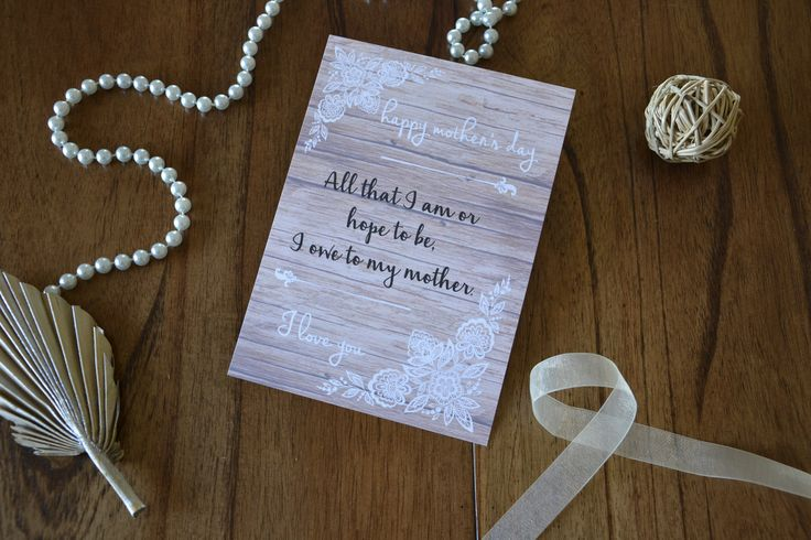 Mother's Day Card - Customizable message and handmade with love www.etsy.com/shop/sarahsamweddingglam