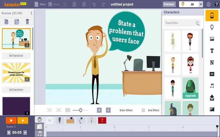 Animaker es una utilidad web, con una modalidad gratuita, con la que cualquier persona puede crear animaciones y vídeos de forma sencilla.