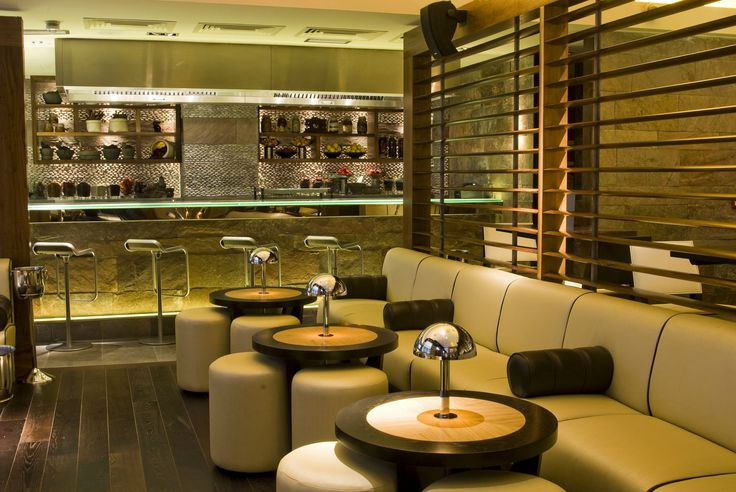 Mint Leaf Lounge, City of London. Designed by Julian Taylor Design Associates for Mint Leaf Restaurants.