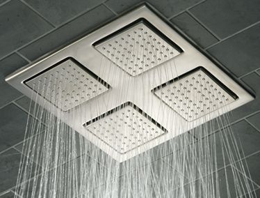 With 216 nozzles overall, this overhead panel  will create real rain in your bathroom.