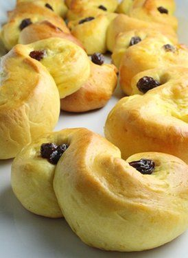 "Saffron Buns ""Lussekatter"", a Swedish tradition for Lucia Day"