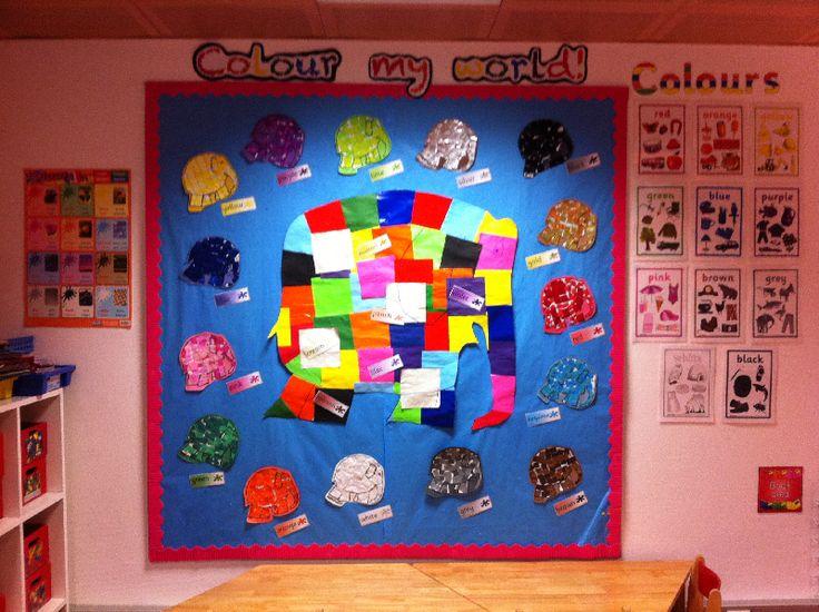 Colour my world with Elmer classroom display photo - Photo gallery - SparkleBox