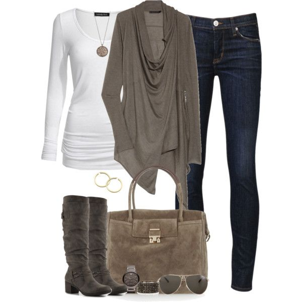 """Taupe"" by partywithgatsby on Polyvore"