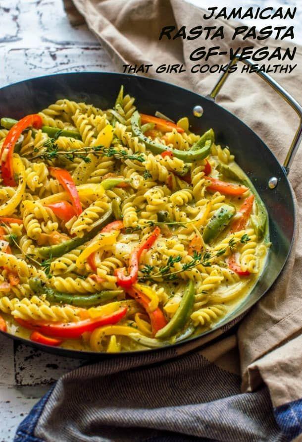 Vegan Rasta Pasta Dish Recipe Rasta Pasta Jamaican Recipes Healthy Cooking