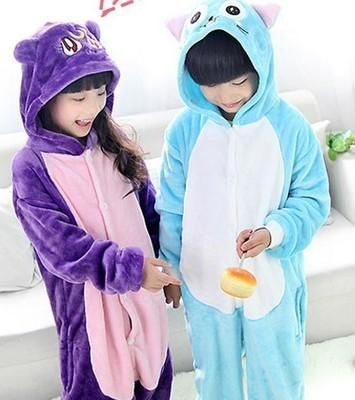 Children Pyjamas Kids Animal Onesie Pijamas Pajamas Purple Cat Habib Onesie Sleepwear Jumpsuit Pijama Infantil