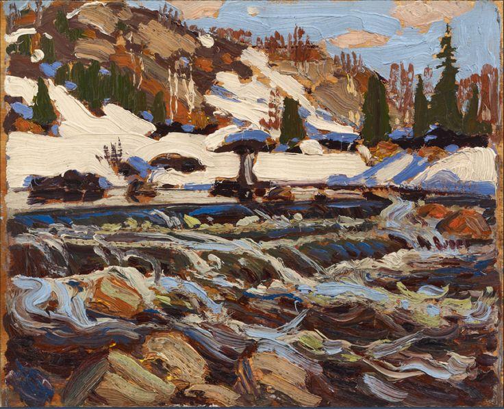 Tom Thomson (1877–1917), The Rapids, 1917. oil on wood panel, 21.6 x 26.7 cm