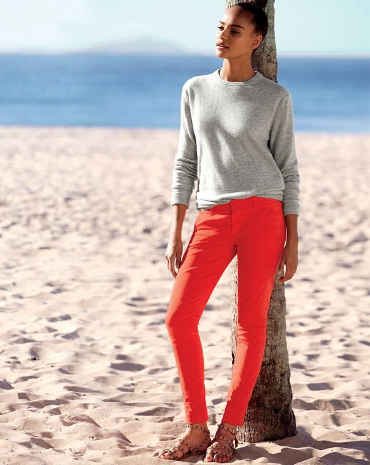 J.Crew Andie chino pant. Love the color!
