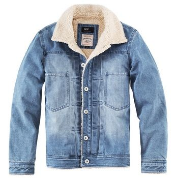 Classic shearing lined denim jacket mens from notlie - Fashion Industry Network