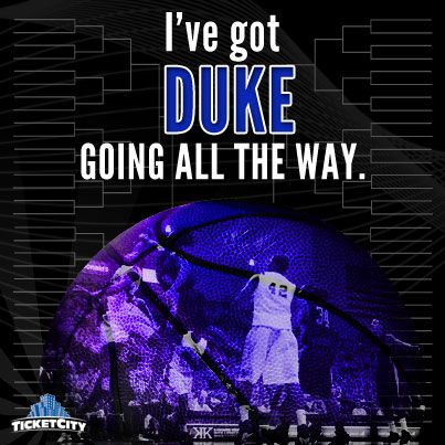 PIN if you have Duke going all the way! #MarchMadness http://www.ticketcity.com/college-basketball-tickets/ncaa-tournament-tickets.htm