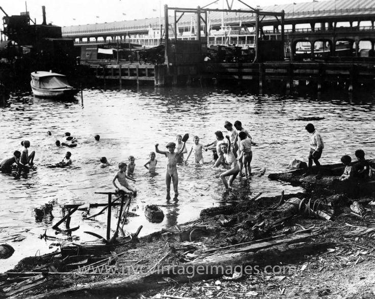 boy swimming river - photo #28