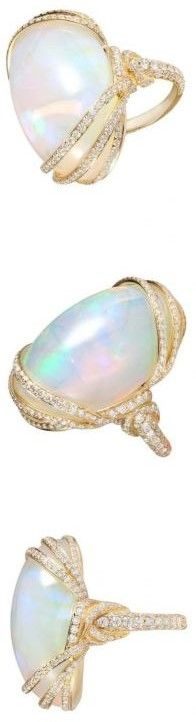 Capri Jewelers Arizona ~ www.caprijewelersaz.com: opal and diamond ring
