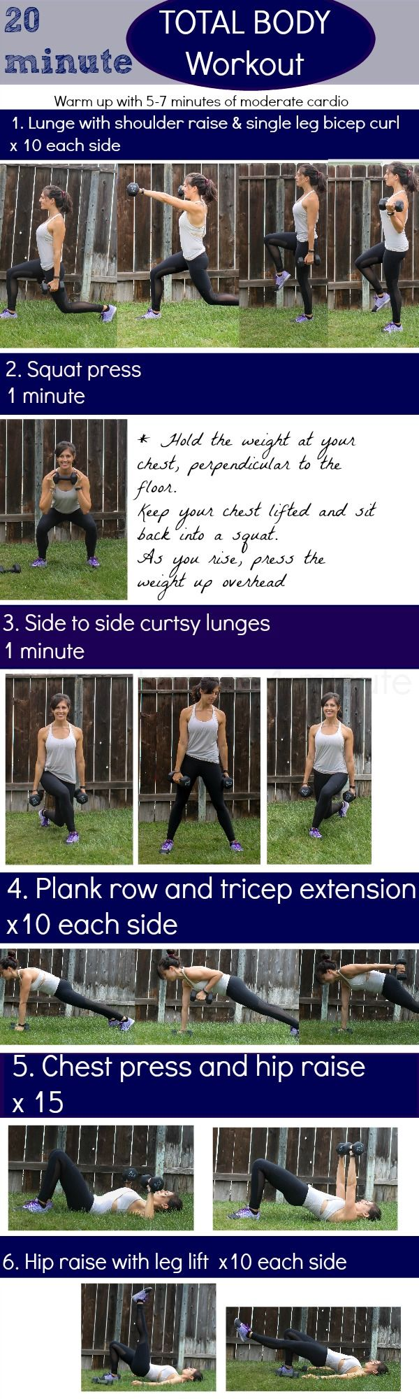 20-minute head to toe workout - The Fitnessista