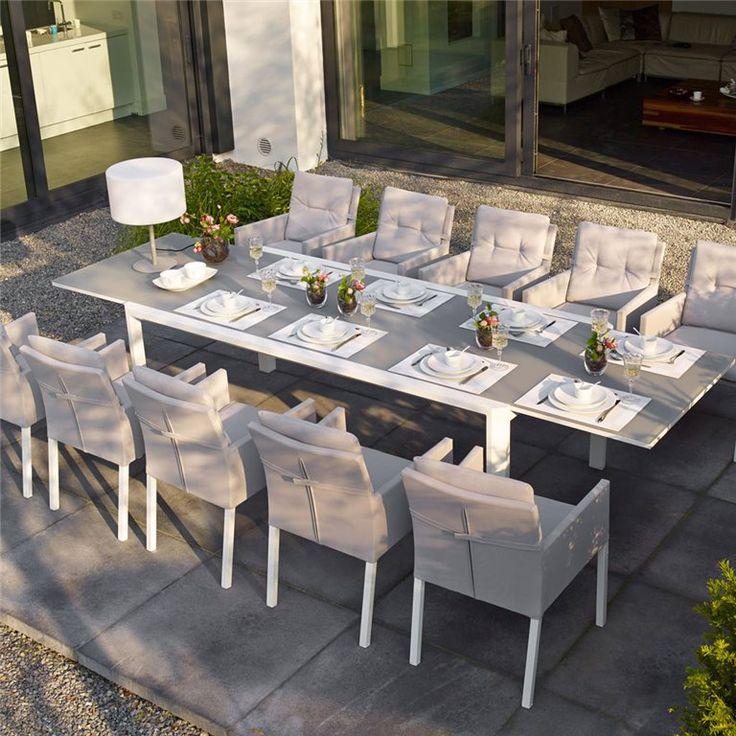 deze life outdoor living anabel tafel is uitschuifbaar en biedt ruimte voor wel 12 personen - Groer Runder Esstisch Fr 12 Personen