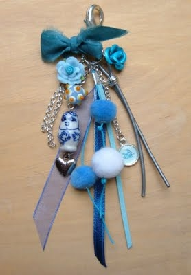 beads and jewelry: children's party keychains making