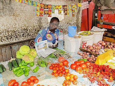 Sreet vendors in Brazzaville, Congo Editorial Image