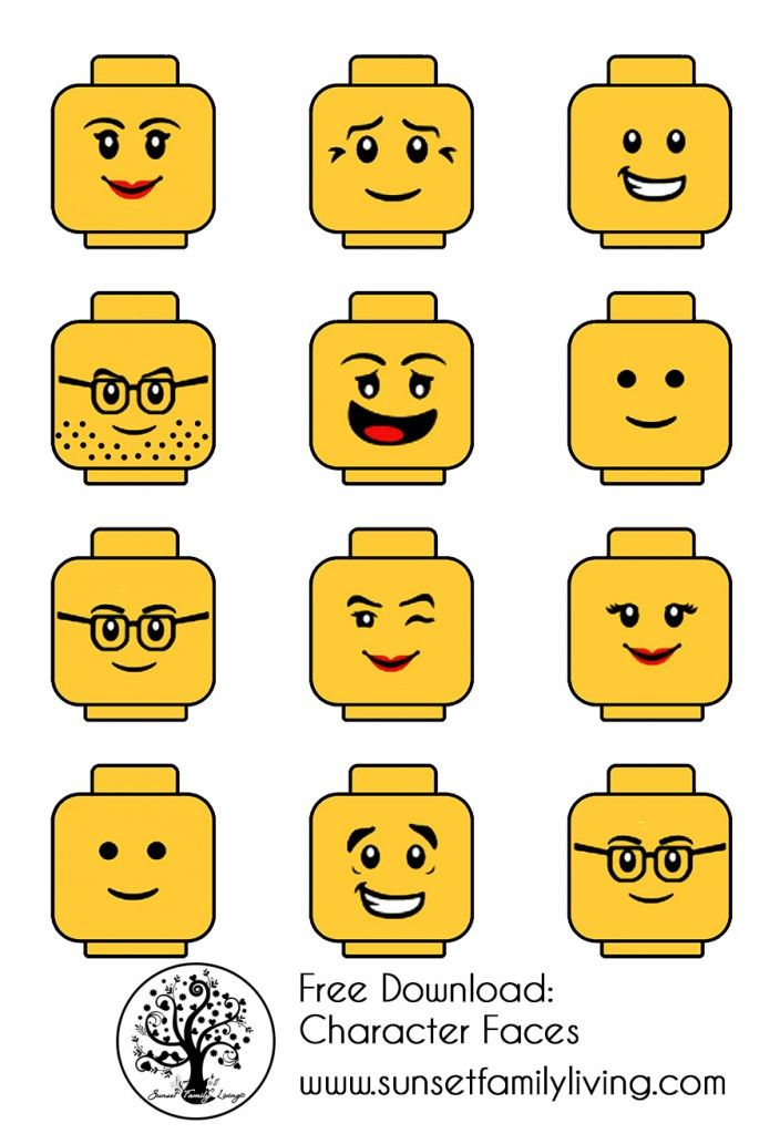 Gargantuan image within lego faces printable
