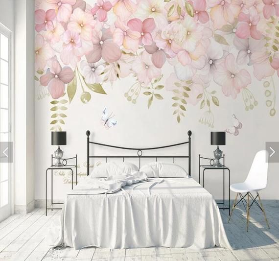 Watercolor Flower Wallpapers Wall Mural Art Wall Painting