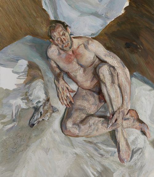 """thenewloverofbeauty: """" Lucian Freud (1922-2011) The Last Painting (unfinished) """""""