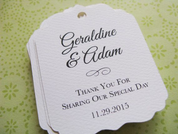 how to make wedding favor tags