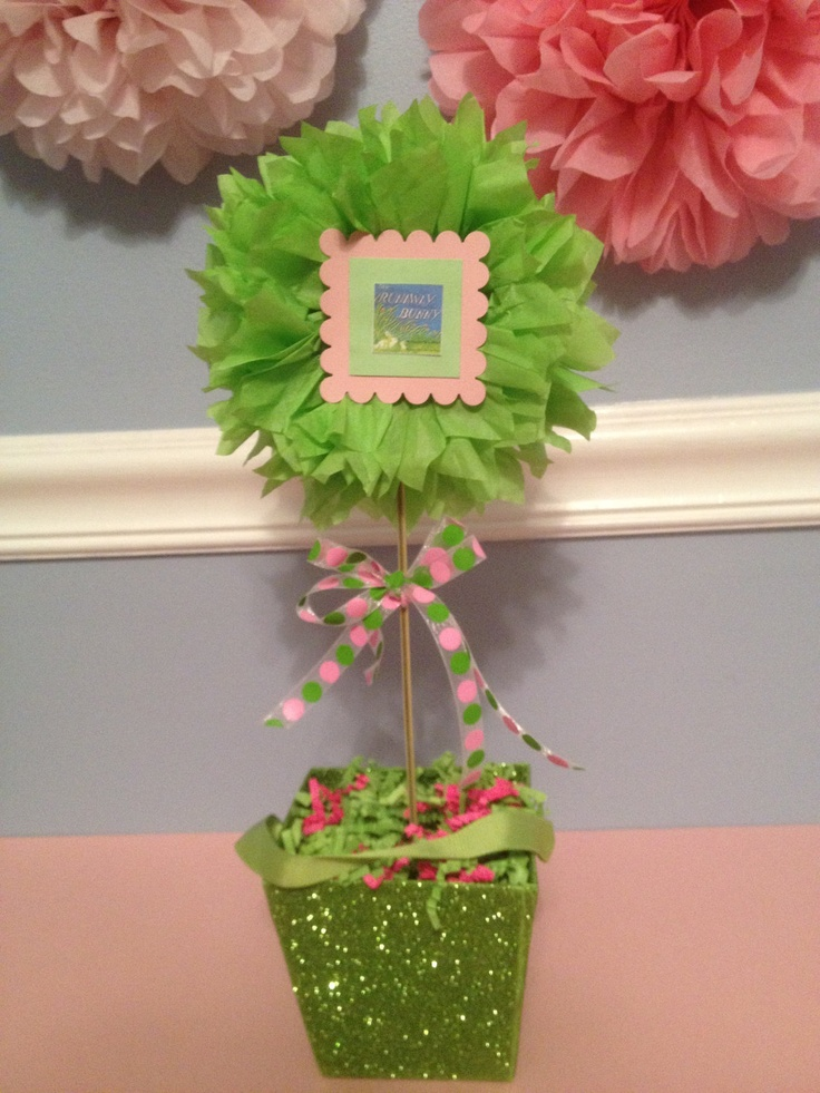Image detail for -Tissue Paper Pom Pom Baby Shower Book Theme by kreationsbykia