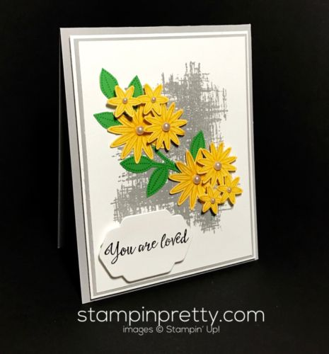 Grateful Bunch & Blossom Punch Bunch love card. Mary Fish, Stampin' Up! Demonstrator. 1000+ StampinUp & SUO card ideas. Read more https://stampinpretty.com/2017/03/inspired-by-color-the-blossom-bunch-punch.html