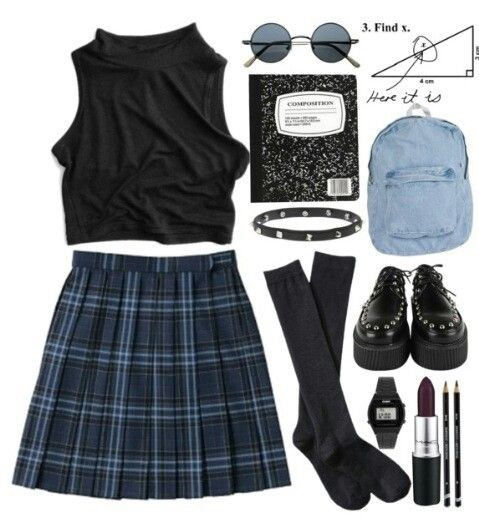 Can't help it, I love plaid skirts :D (not even in a schoolgirl sense, I just like plaid >:o )