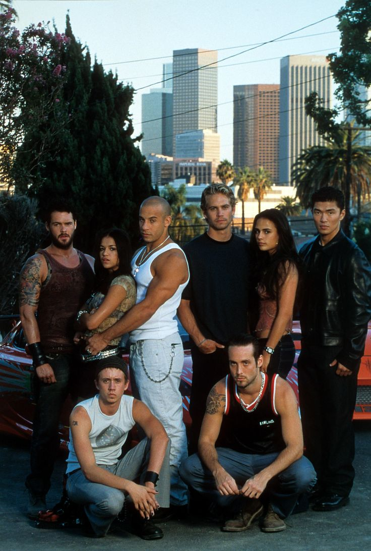 Michelle rodriguez vin diesel paul walker jordana brewster and the cast from the fast and the furious