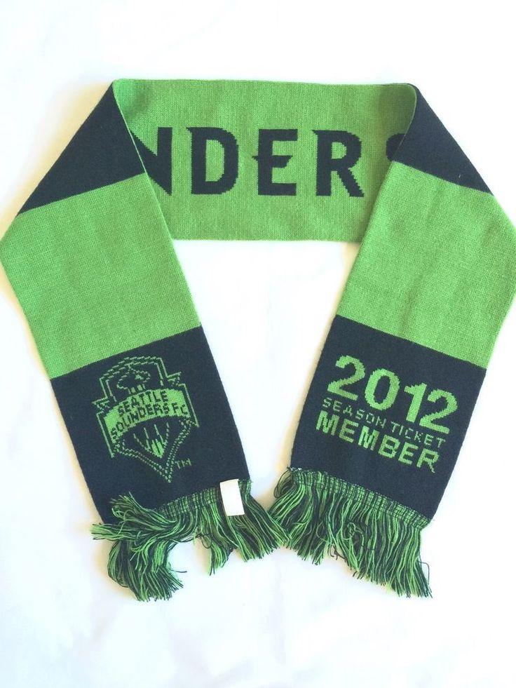 2012 SEATTLE SOUNDERS FC SOCCER SEASON TICKET HOLDER SCARF MLS SOCCER CLEARANCE  #RuffneckScarves #SeattleSoundersFC