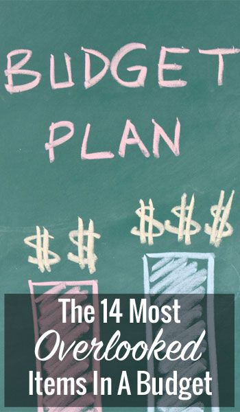 The 14 Most Overlooked Items In A Budget