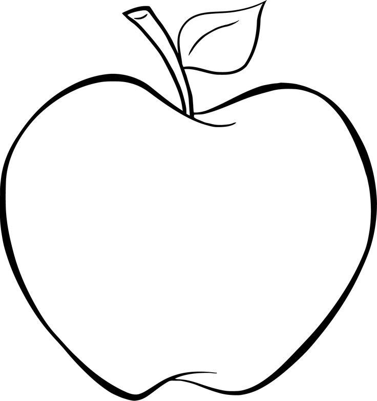Ausmalbilder Apfel 01   Malvorlagen gratis, Malvorlagen ...