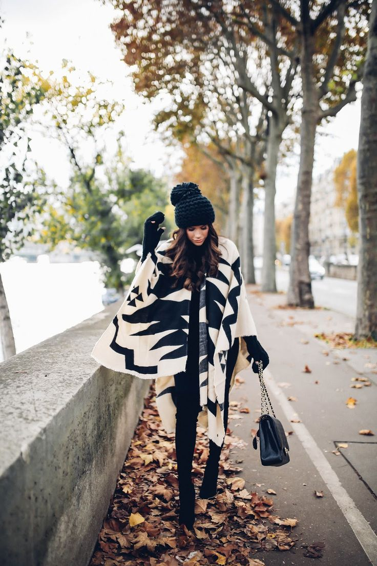 Poncho Weather in Paris
